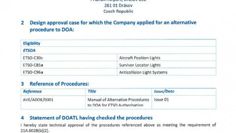 Aveo Engineering Group awarded EASA Alternative Procedures Organisation Approval (ADOA)
