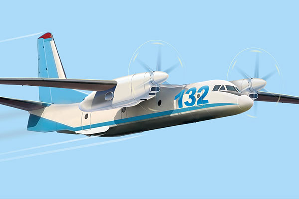 AN-132 Light Multipurpose Transport Aircraft - AveoEngineering supplying all lights