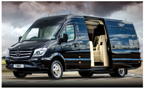 When a van is fancier than a private jet!!! (and of course, Aveo inside!)