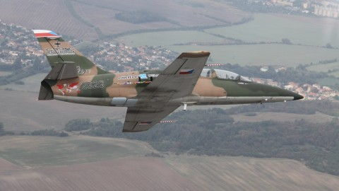Aero Vodochody Czech Republic Flies L-39NG Next Generation Trainer on First Flight, and of course, with AVEO LIGHTS!