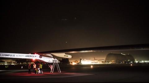 Aveo Lights on the Solar Impulse, USA Transcontinental Solar Power Airplane Flight