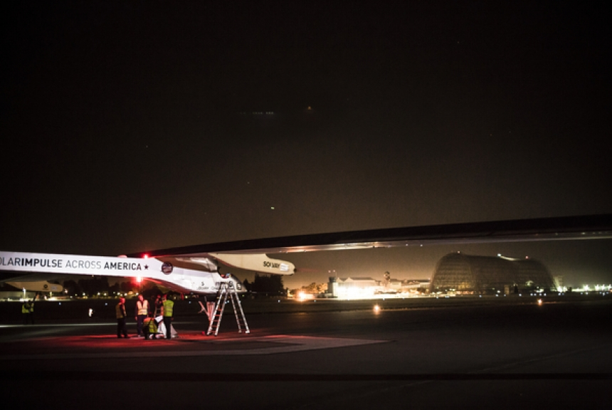 Aveo Lights on the Solar Impulse, USA Transcontinental Solar Power Airplane Flight