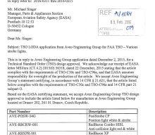 FAA LODA Approval for the European ETSO Aveo Lights