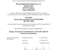 Aveo Engineering achieves AS 9100C