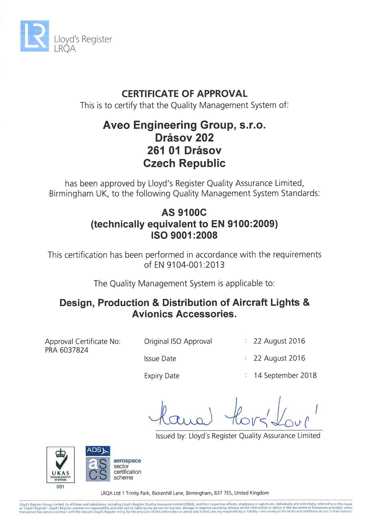 certificate_AS9100