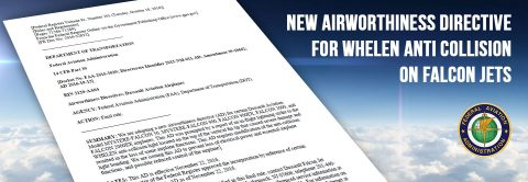 New airworthiness directive for Whelen anti collision on Falcon Jets