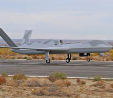 General Atomics Predator C Avenger ER Makes First Flight… with Aveo conformal lights!