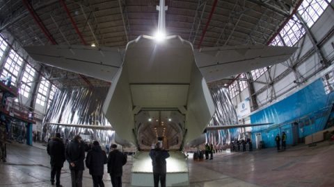 An-132d Rolled Out – note the shot of the tail position light from Aveo, ALL LIGHTS ON THIS PLANE ARE AVEO
