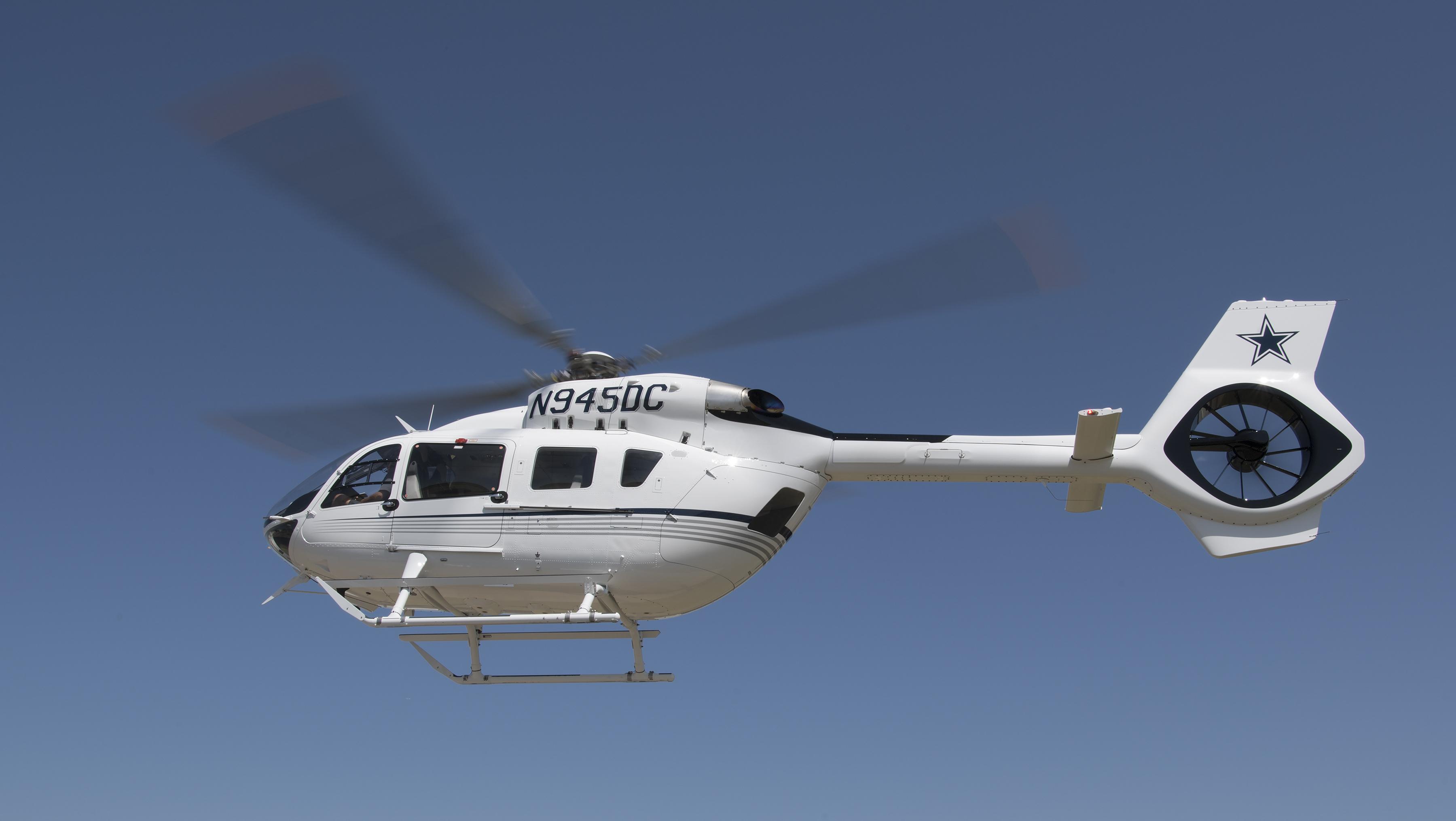 Aveo RedBaron, PosiStrobe CP and Ultras on Dallas Cowboys new Airbus Helicopter!!!!!