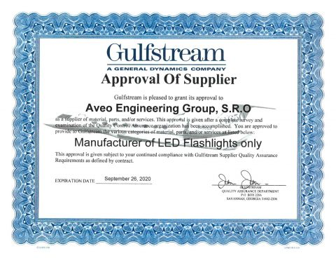 Gulfstream – Approval Of Supplier