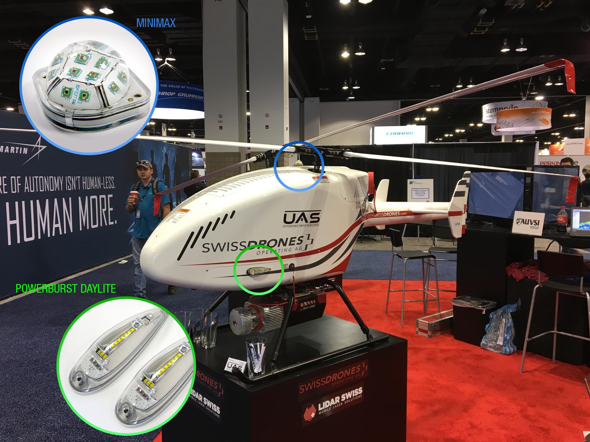 UAV lights PowerBurst and MiniMax DayLite position anti-collision strobe