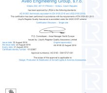 Aveo Engineering Group achieves AS 9100D