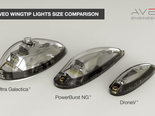 DroneV - smallest wing position strobe light