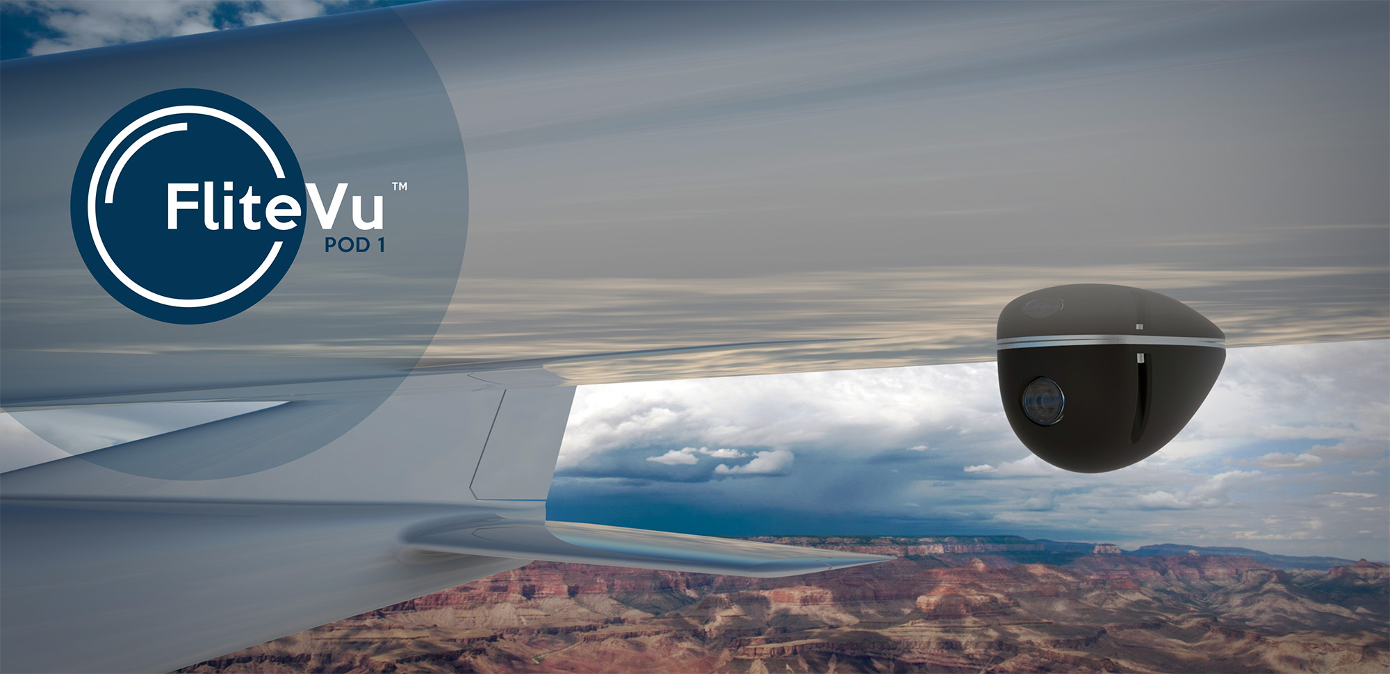 FliteVu - High resolution digital camera in aerodynamic pod for aeronautical applications